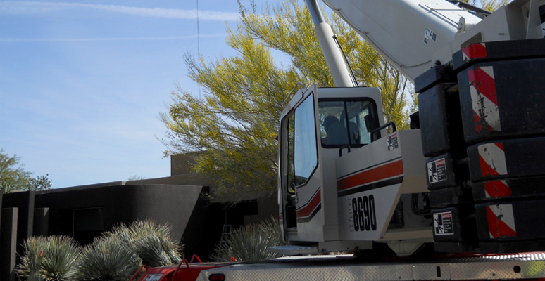 Building Materials Lifting in Palm Springs & Palm Desert, California