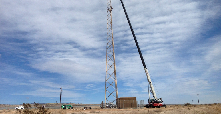 Cell Phone Tower Crane Lift Services in California