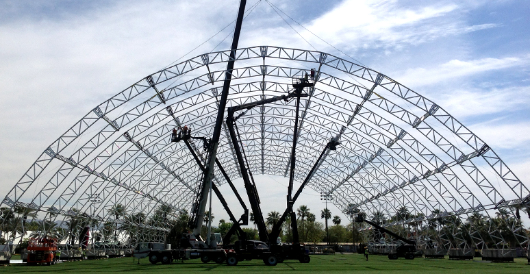 Photo of Coachella Valley Festival Event Set Up