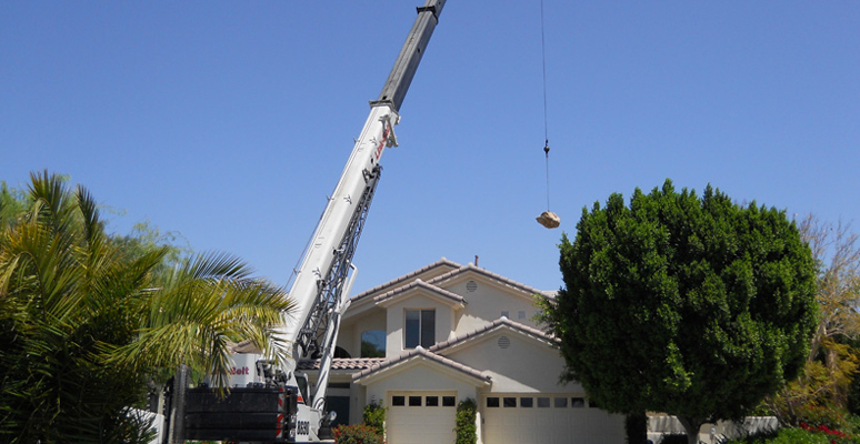 Construction Lifting Services in Palm Springs, Palm Desert, California
