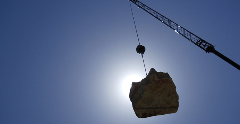 Photo of Desert Crane's Boulder Lifting